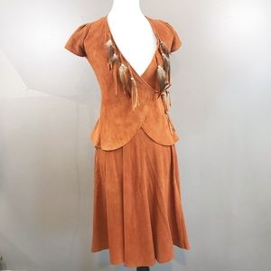 Vintage Mt. Shasta Suede Wrap Top and Wrap Skirt
